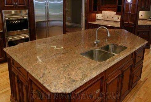 Kashmir Gold Granite Countertop, Yellow Granite Countertop