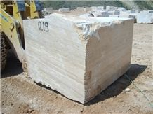 White Travertine Block