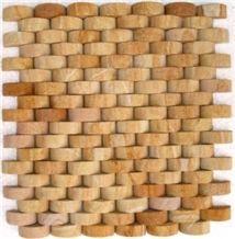 China Yellow Sandstone Mosaic