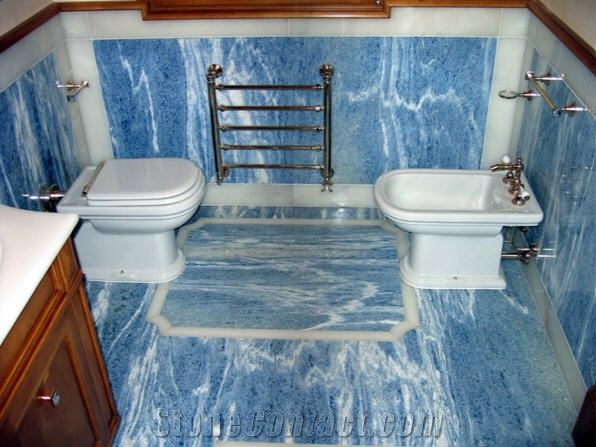Azul Bahia Bath Design Blue Granite From Italy