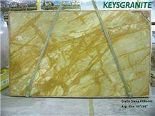 Giallo Siena Marble Slabs, Italy Yellow Marble