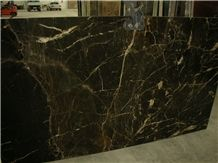 Noir St Laurent Marble Slabs, France Black Marble