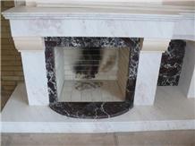 Rosalia - Rosso Lepanto Marble Fireplace
