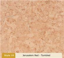 Jerusalem Red Limestone Tiletumbled