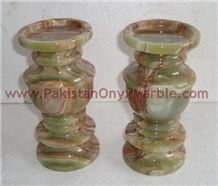 Onyx and Marble Stones Candleholders