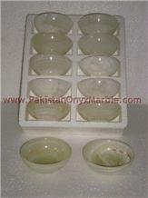 Onyx Bowls, Green Onyx