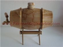 Teak Wood Marble Beer Tanks