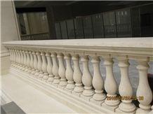 Jura Beige Limestone, Beige Limestone Balusters, Yellow Limestone Balustrades and Handrails