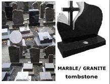Granite Tombstone,Single Monument , Memorial Monument Tombstones,Shanxi Black Granite Monument ,Western Style Upright Polished ,Angel Headstone
