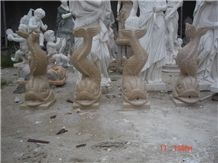 Animal Fountain, Beige Marble Fountain