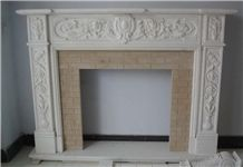 Fireplace Marble Mantel, White Marble Fireplace
