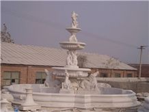 Layers Fountain,White Marble Statued Fountain
