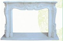Marble Fireplace,white Color Fireplace