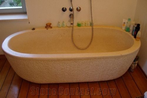 Beige Limestone Bathtub from Croatia-84882 - StoneContact.com