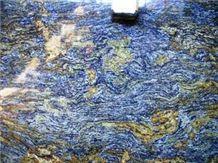 Blue Storm Granite Slab, Brazil Blue Granite