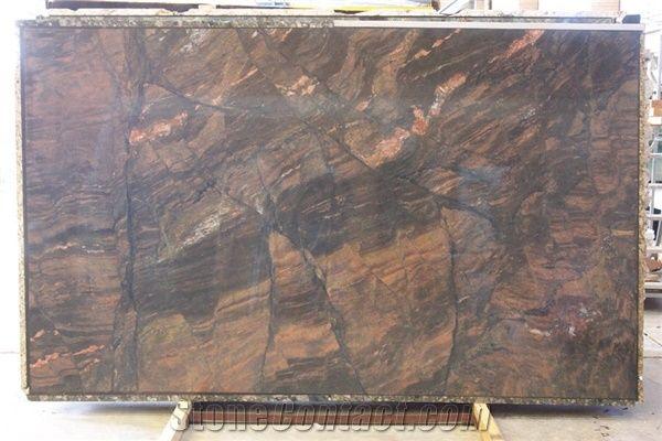 Capolavoro Granite Slab Brazil Brown Granite From