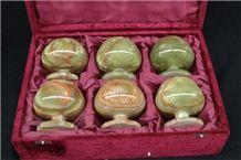 Onyx Wine Goblet Set