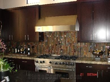 Rust Slate Backsplashes Kitchen Design From United States