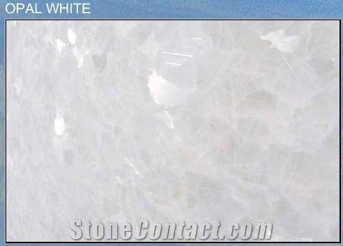 Opal White Marble Tiles Slabs White Polished Marble Floor