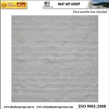 Salt White Line- Black Line Chiseled Marble