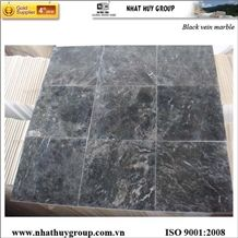 Vietnam Black Vein Marble, Polished Tiles, Dark Emperador Stone