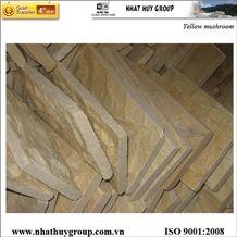 Yellow Marble Mushroomed Wall Stone