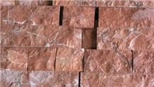 Ritsona Royal Red Split Faced Marble Slabs & Tiles, Greece Red Marble
