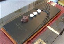 China Granite Tea Tray Handcraft, Black Granite Tea Tray Handcraft