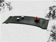 Handmade Tea Tray, Black Granite Tea Tray