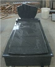 China Impala Padang Dark Grey G654 Polished Granite Black Tombstone & Monuments, Custom Engraved Headstone Gravestone with Rose, Cross, Single Double Design Cemetery Stone, Manufacturer Factory