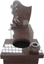 Imperial Red Granite Polished Monument