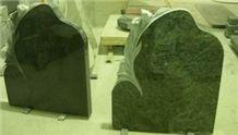 Western Style Black Granite Monument