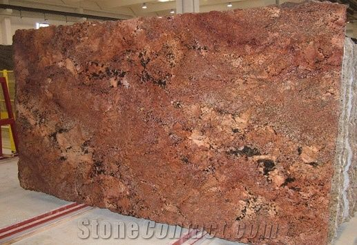 Juparana Florence Bordeaux Granite Slab From United States