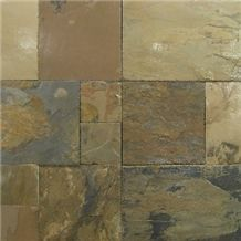 Indian Autumn Slate Slabs & Tiles