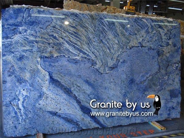 Azul Bahia Granite Slab Brazil Blue Granite From United