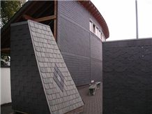 Roofing Cladding Slate, Silica Green Slate Roof Tiles