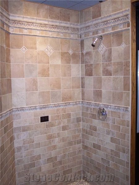 Travertine Shower Wall Tile From United States