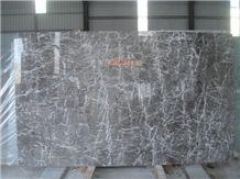 Grey Lido White Veins, Marble Slabs, Grey Lido Marble Block