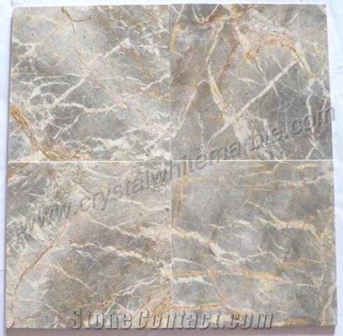 Vietnam Gris Nebula Marble Slabs Tiles