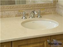 Chinese Marble Vanity Top with White Bei