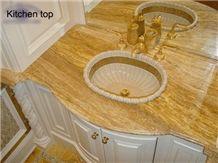 Yellow Marble Vanity Top