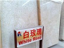 White Rose Marble Slab, Turkey Beige Marble
