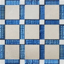 Fusion Glass, Beige Marble Mosaic
