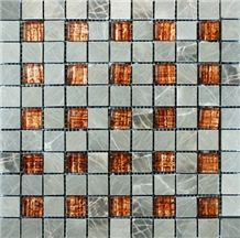 Marble Mix Glass Mosaic Msg-0031