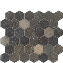 Nova Blue Hexagon Mosaic