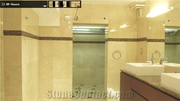 Crema marfil and emperador dark marble bathroom beige - Best paint color for crema marfil bathroom ...