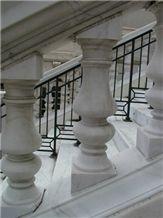 White Marble Balustrade
