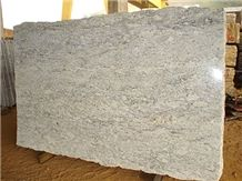 Bianco Romano Granite Slab, Brazil White Granite
