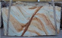 Calypso Gold Quartzite Slab, Brazil Yellow Quartzite