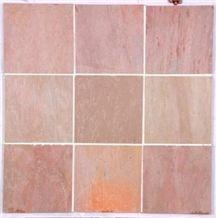 Lime Pink Limestone Tile